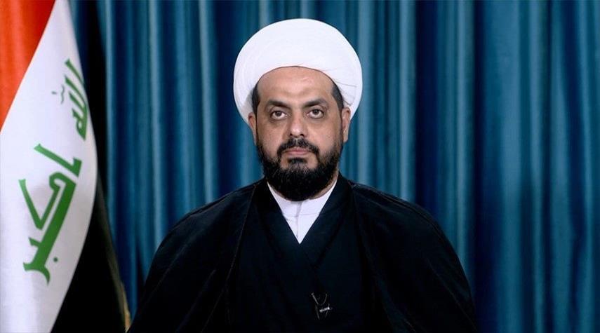 الشيخ قيس الخزعلي يعزي بوفاة المرجع السيد محمد سعيد الحكيم