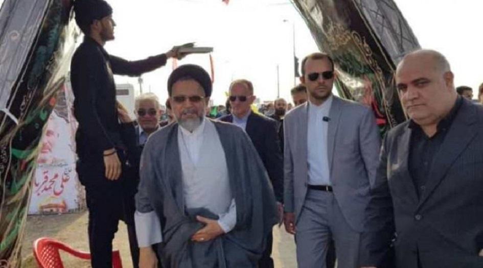 وزير الامن الايراني يواكب زوار الاربعين في معبر شلمجة
