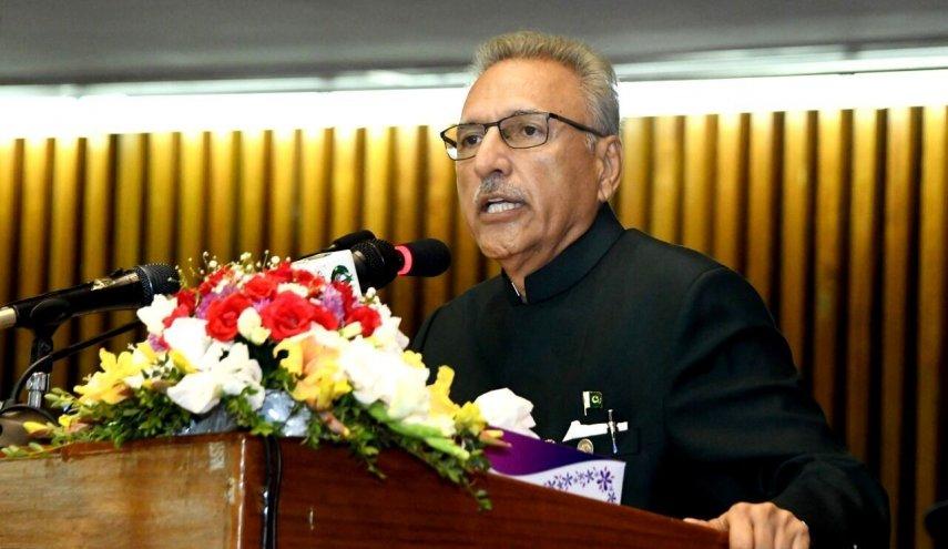رئيس جمهورية باكستان: ايران لطالما دعمتنا في مواجهة اللحظات العسيرة