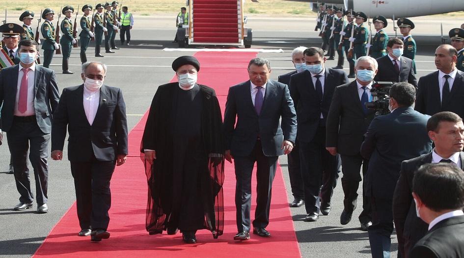 الرئيس الايراني يصل الى دوشنبة