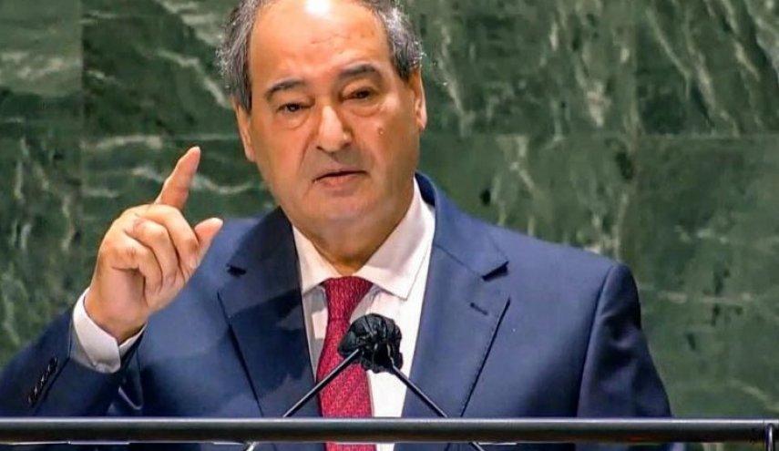 المقداد من الأمم المتحدة يؤكد: سنواصل معركتنا ضد الإرهاب